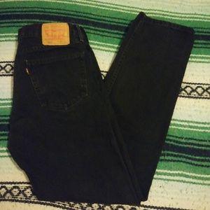 Levi's 505 Straight Fit Size 34x34 Black Jeans!